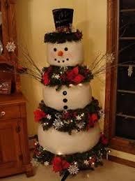 snowman tree craft of the season frosty the snowman christmas tree