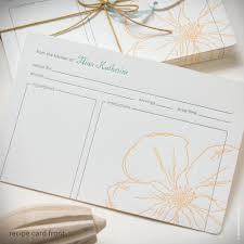 inkello letterpress snow drop anemone personalized recipe cards