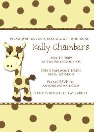 baby shower invitations giraffe cute giraffe monkey baby shower