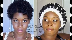 4d natural hair hot head thermal cap with flat twist on 4a 4b 4c 4d 4z type