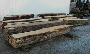 Oak Slab Table by Figured Black Walnut Lumber Live Edge Furniture Spalted Maple