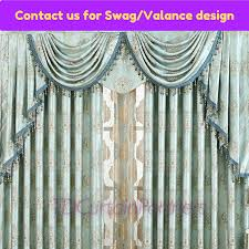 Crystal Beaded Curtains Australia by Teal Blue Swags Valance Pelmet Drapes Sheer Blockout Eyelet Beaded