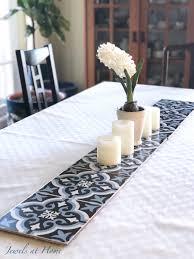 tile in dining room diy tile table runner for a family friendly formal dining room