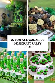 minecraft party 27 and colorful minecraft party ideas shelterness