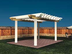 Wooden Pergola Designs by Craftsman Style Pergola Plans
