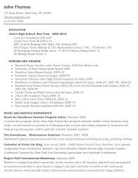 high school resume template college admission resume template high school resume template for