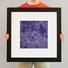 K State Campus Map by Kansas State University Campus Map Art City Prints