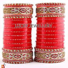 ethnic indian bridal chura traditional punjabi wedding chuda