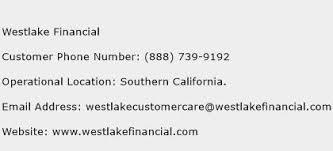 financial services phone number westlake financial customer service phone number contact number