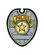 gold police badge temporary tattoo perfect for birthdays