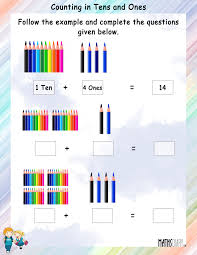 tens and units worksheets printable counting in tens and ones mathsdiary
