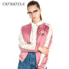 vetement femme cool chic online get cheap satin floral bomber veste aliexpress com
