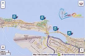 san juan map map of beaches in san juan san juan