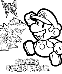 paper mario coloring pages super paper mario printables free