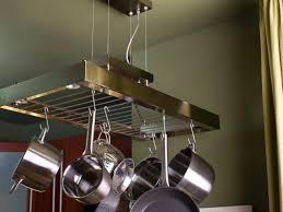 kitchen island pot rack lighting unique shape kitchen pot rack with lights come with copper
