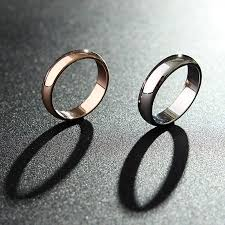 wedding gift jewelry 1pc gold silver smooth women men ring jewelry dating