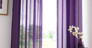 curtains purple voile curtains positiveevents brown and silver