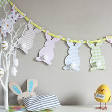 bunny decorations bunny bunting by whole in the middle notonthehighstreet