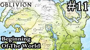 Oblivion Map Elder Scrolls Iv Oblivion Beginning Of The World Walkthrough