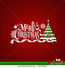 christmas greeting card merry christmas lettering stock vector