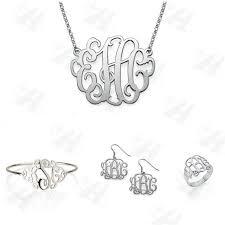 Custom Monogram Necklace Aliexpress Com Buy Custom Jewelry Sets Silver Monogram Jewelry