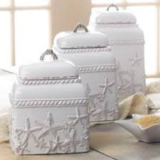 cool kitchen canisters mud pie starfish canister set kitchen dining
