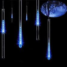 Outdoor Led Icicle Lights Eu Us 8 Drop Icicle Snow Fall String Led