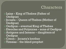 King Of The Blind Laius U2013 King Of Thebes Father Of Oedipus Jocasta U2013 Queen Of