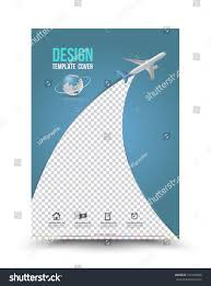 Cover Page Report Template by Cover Page Layout Template Paper Airplane Stock Vector 377459989