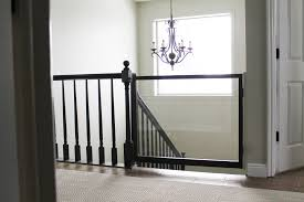Gate For Top Of Stairs With Banister A Diy Baby Gate Chris Loves Julia