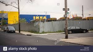 ikea parking lot school bus parking lot and ikea in the red hook neighborhood of