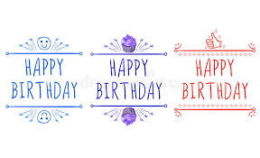 happy birthday card templates with hand drawn elements smile