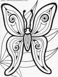 butterfly printable free coloring pages on art coloring pages