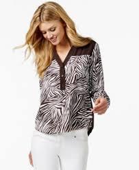michael kors blouses michael michael kors print blouse tops macy s