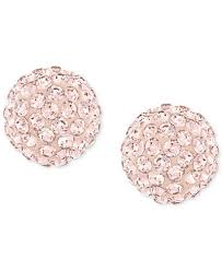 gold stud earrings swarovski gold plated stud earrings jewelry