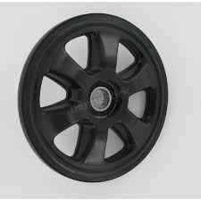 parts unlimited black idler wheel w bearing 4702 0091 snowmobile