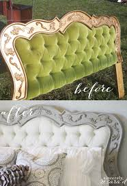 painted headboard tutorial for using chalk paint on fabric sincerely sara d