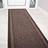 18 Foot Runner Rug Amazon Com Skid Resistant Carpet Runner Chocolate Brown 18 Ft