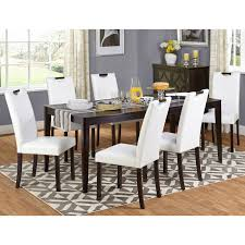 7 Piece Dining Room Set by Target Marketing Systems Tilo 7 Piece Dining Table Set Walmart Com