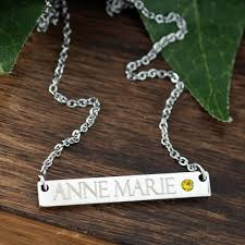 Kids Name Necklace New Mom Necklace New Baby Gift Monogrammed Name Necklace
