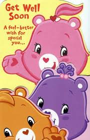 feel better bears buy greeting card birthday get well care bears get well soon a