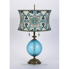 Teal Table Lamp Kinzig Table Lamps Colorful Blown Glass Table Lamps Copper