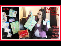 baby gift registries target baby registry gift bag what s inside the free goodie bag
