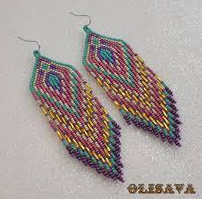 make dangle earrings beautiful beaded dangle peyote earrings with fringe