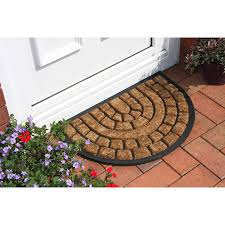 Coir And Rubber Doormat Coco Paved Design Coir And Rubber Semi Circle Doormat 38hm Kukoon