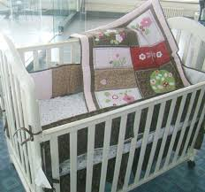 Dragonfly Crib Bedding Set 100 Cotton 7 Pieces Embroidery 3d Tree Branches Dragonfly Baby