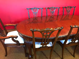 grand chippendale dining table cc french polishing