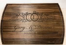 wooden personalized gifts custom wood cutting board personalized gift engraved