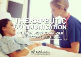 5 principles in answering therapeutic communication questions