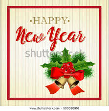 happy new year greetings card stock illustration